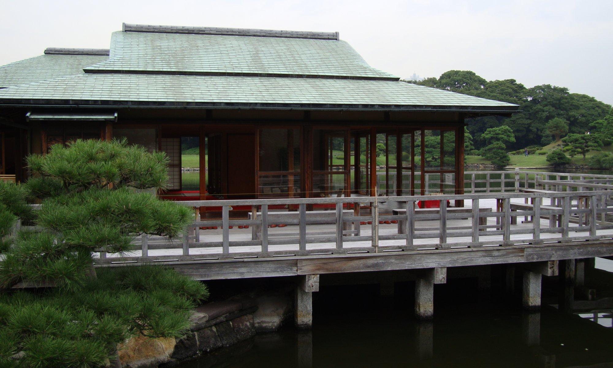 Tea house, Hamarikyū garden, Tōkyō