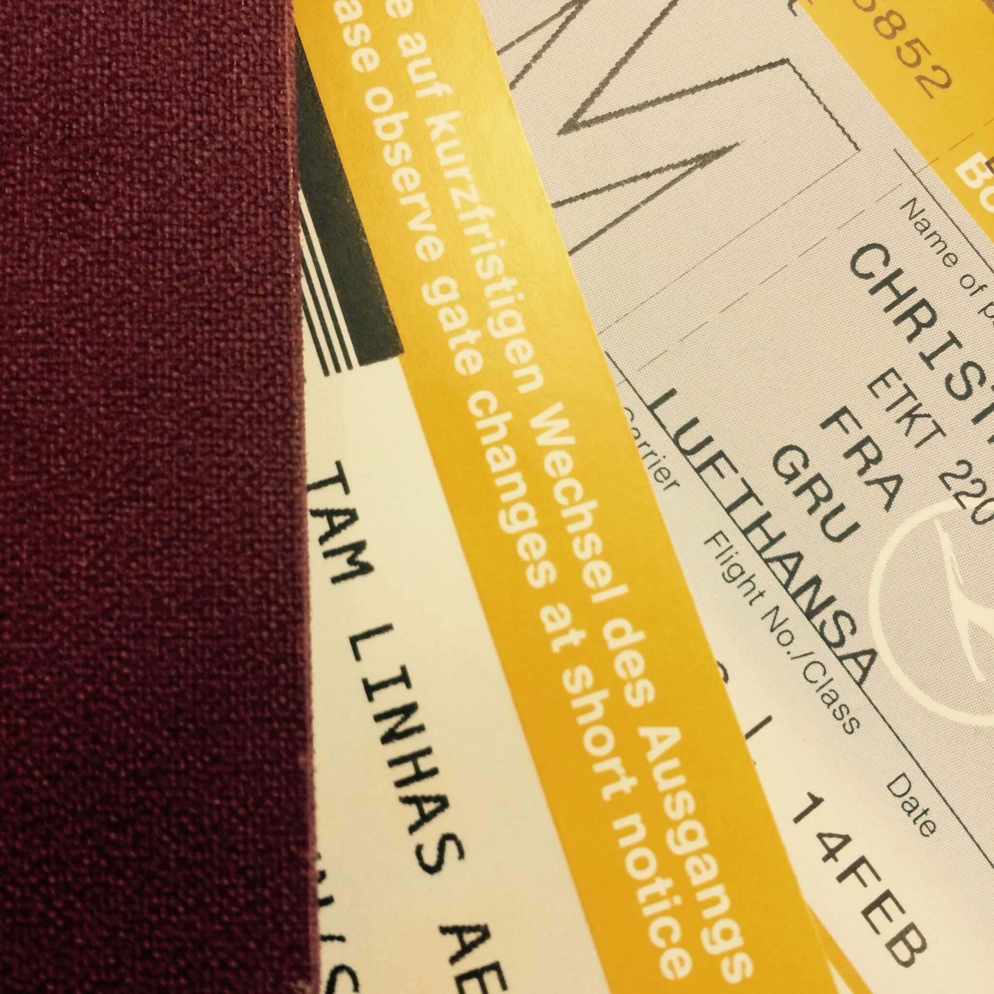 Flight tickets, TAM Linhas Aereas