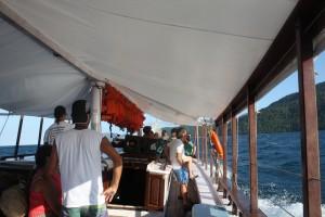 Boat ride to Ilha Grande