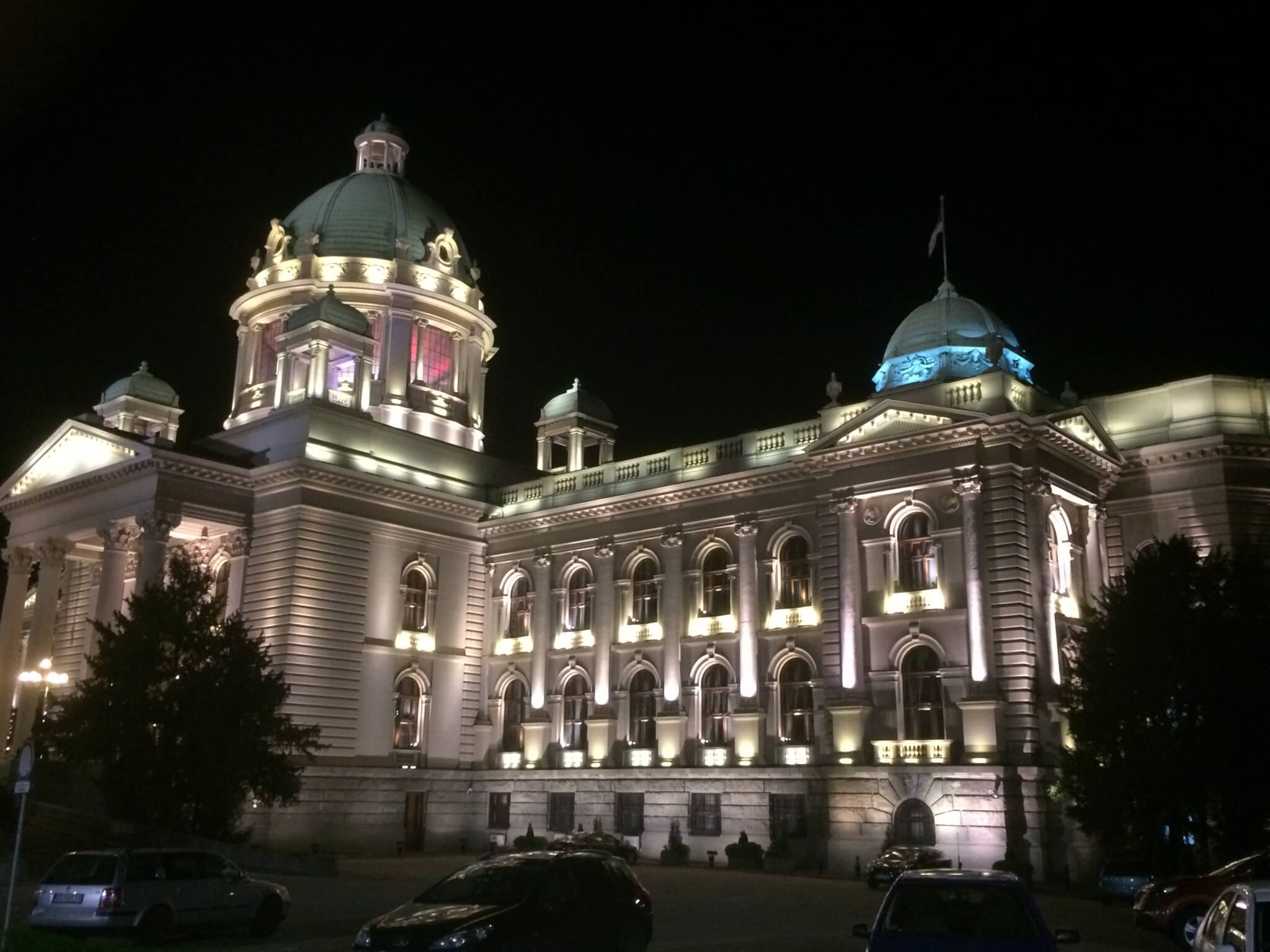 Parliament at night, Beograd