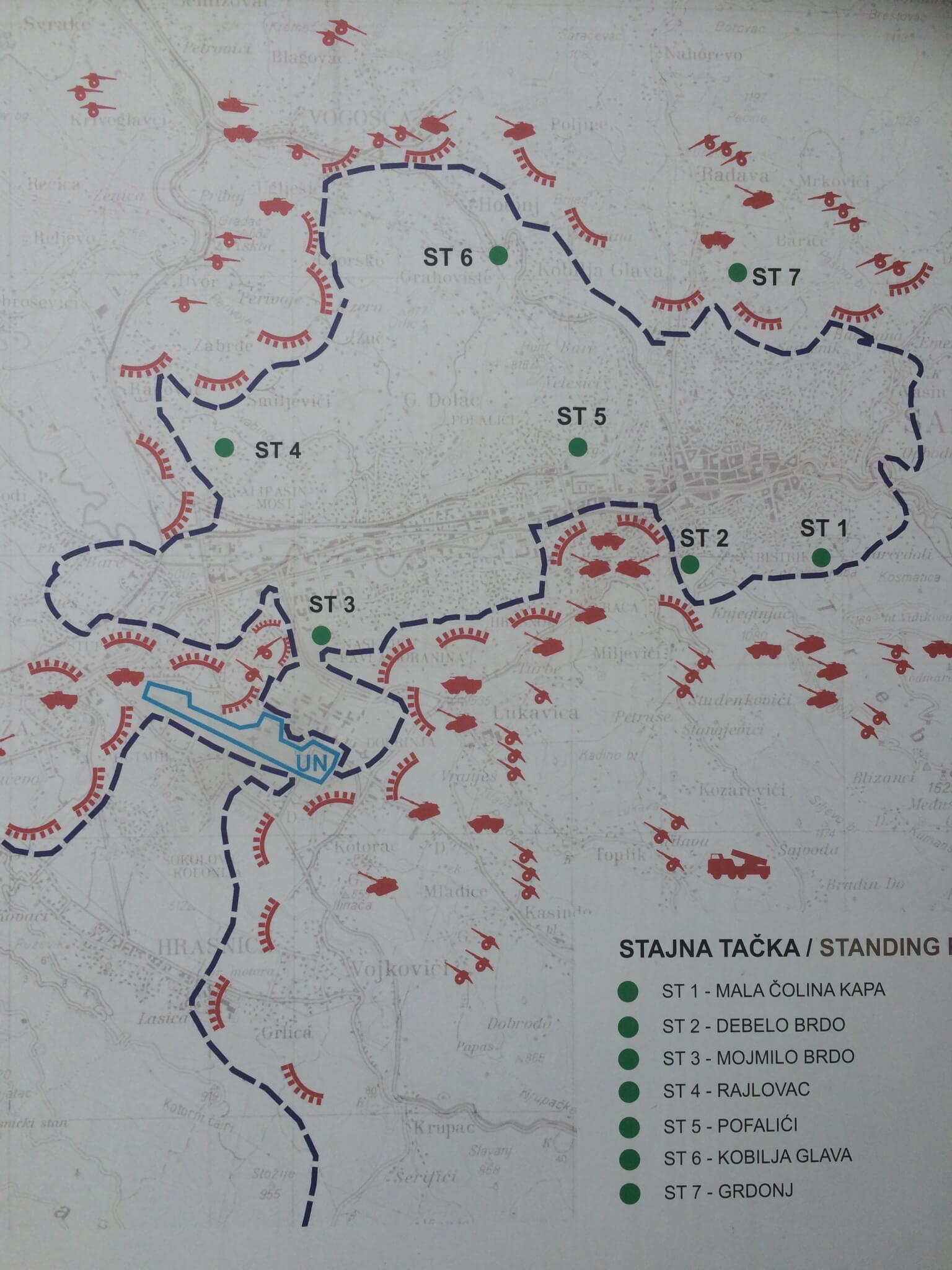 The siege of Sarajevo