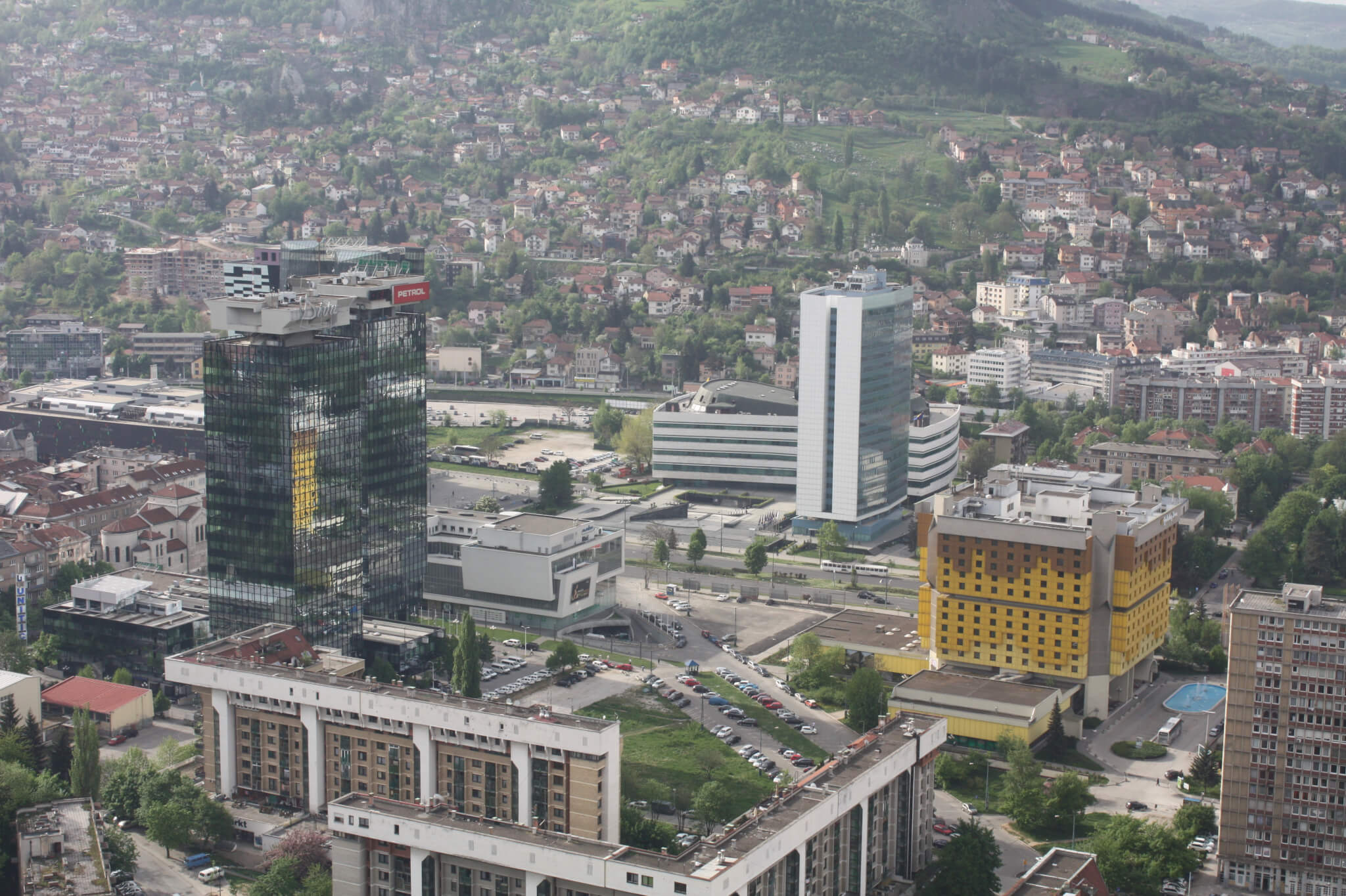 Buildings near Zmaja od Bosne, Sarajevo