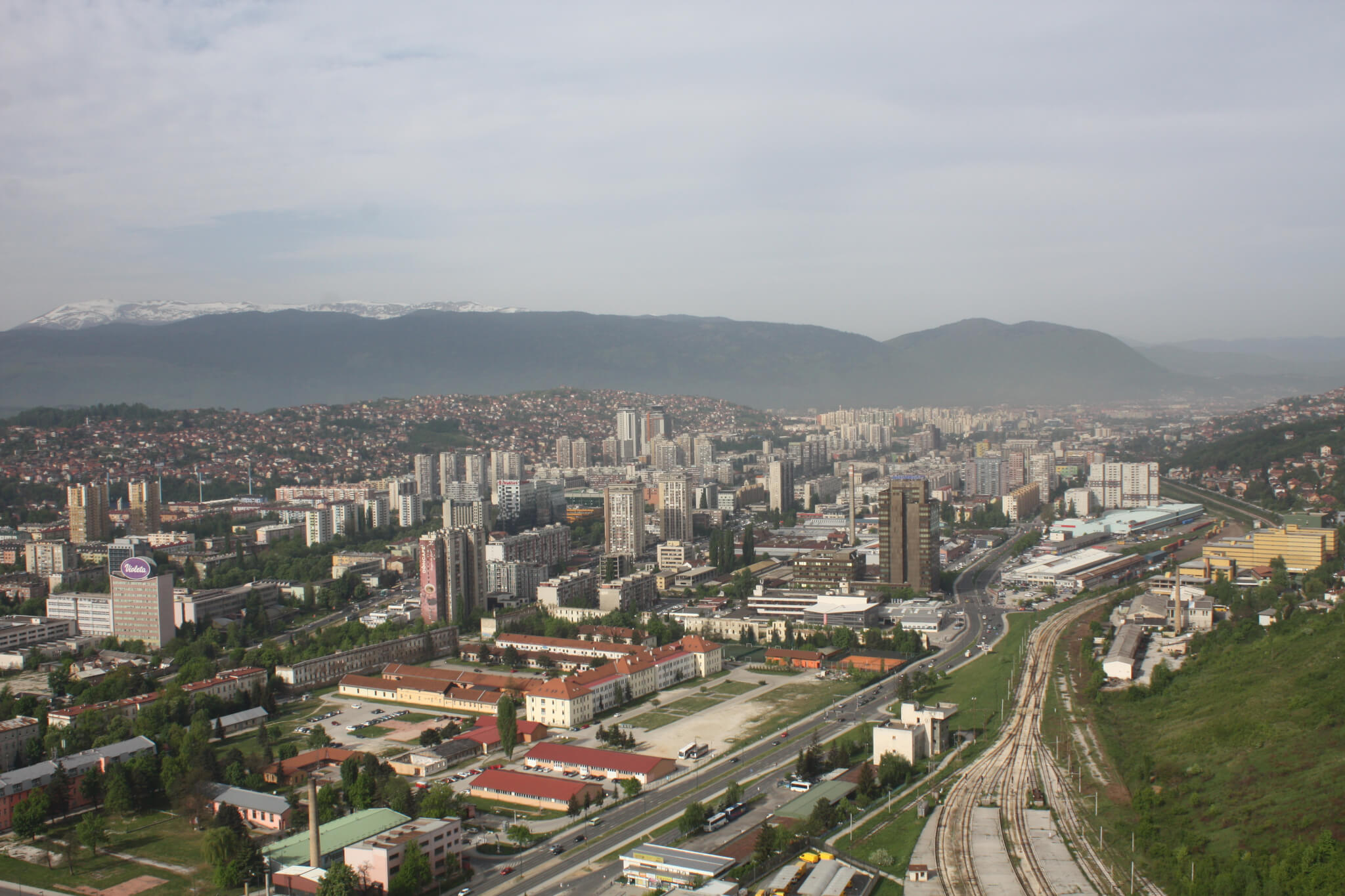 Sarajevo seen from the Avaz Twist Tower