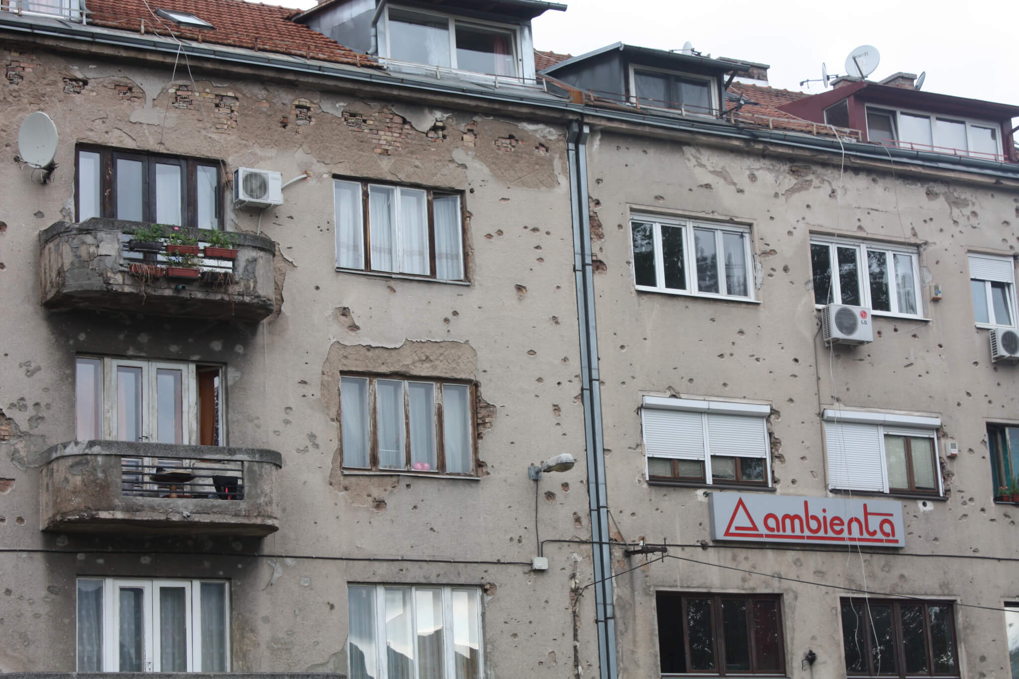 Building close to Vrbanja bridge, Sarajevo