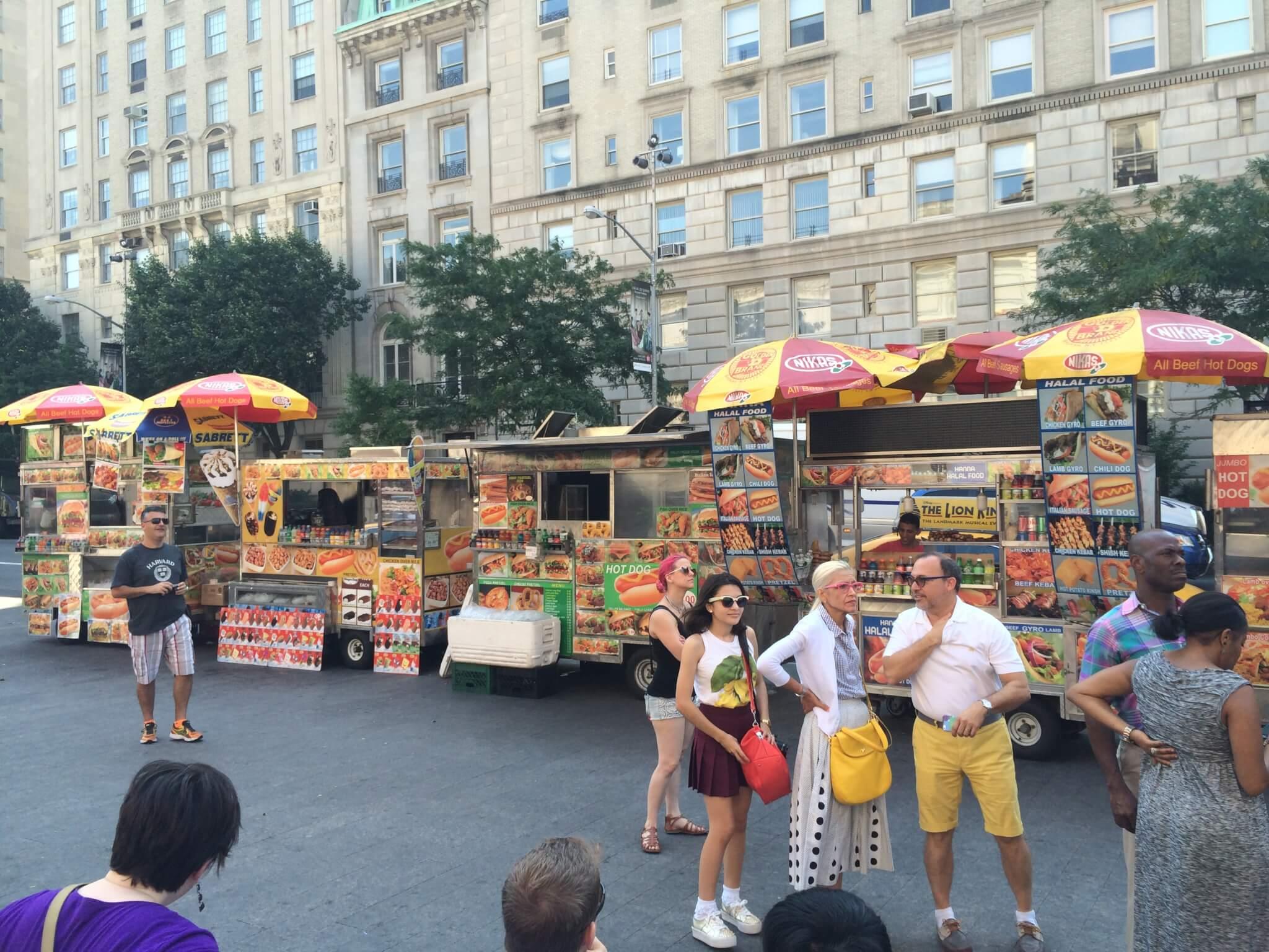 Food carts, New York