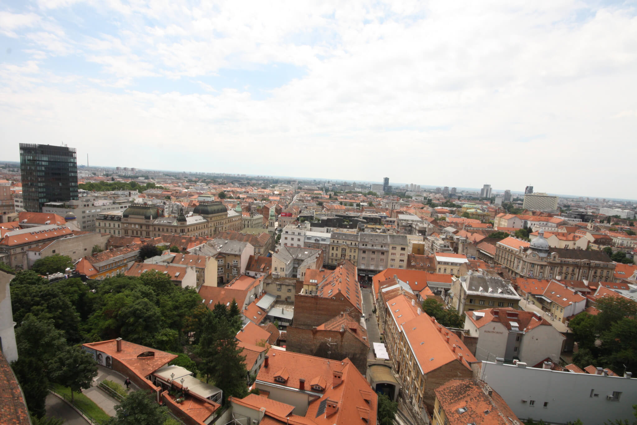 View from Lotrščak tower, Zagreb