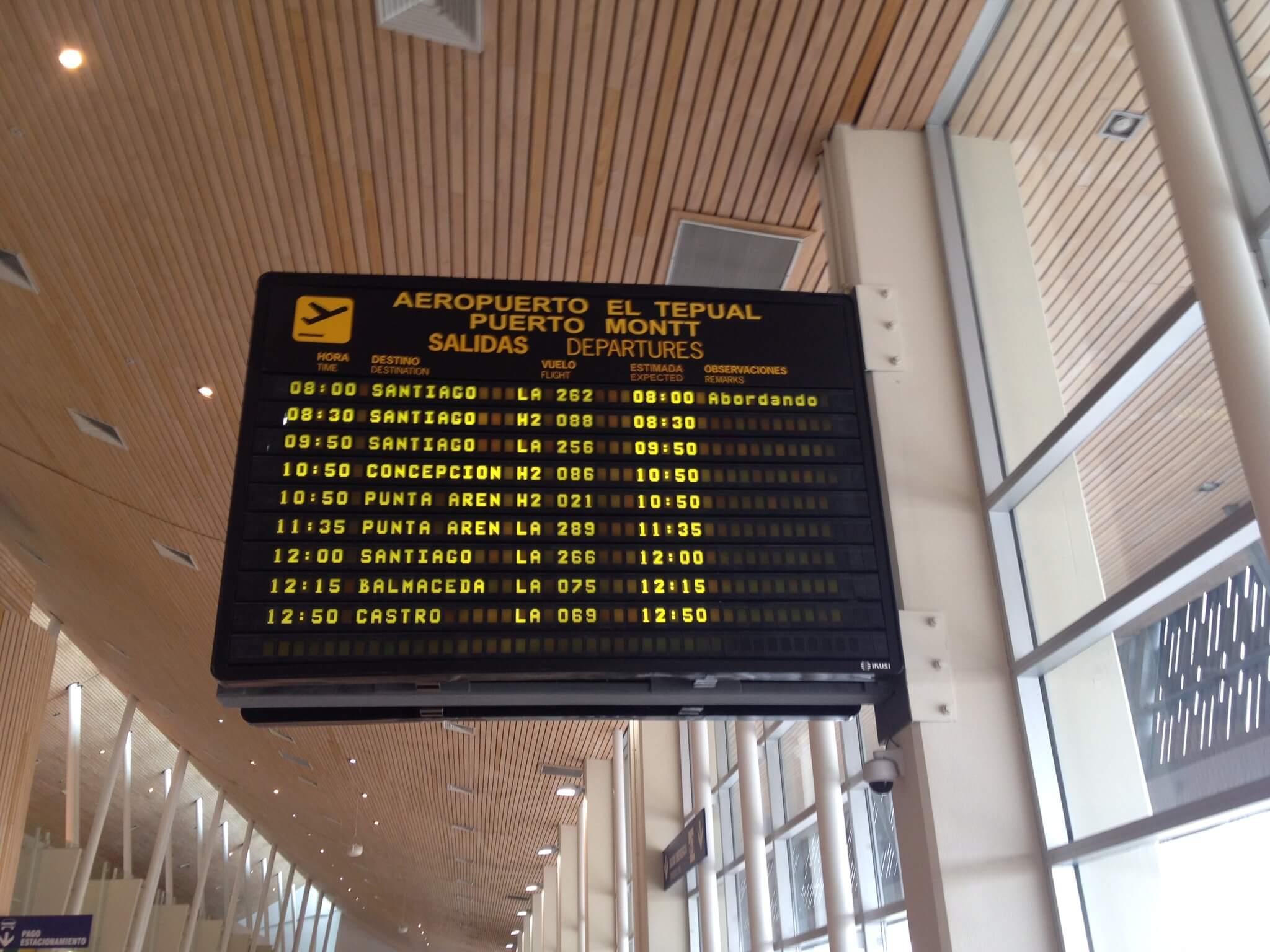 El Tepual International Airport, Puerto Montt