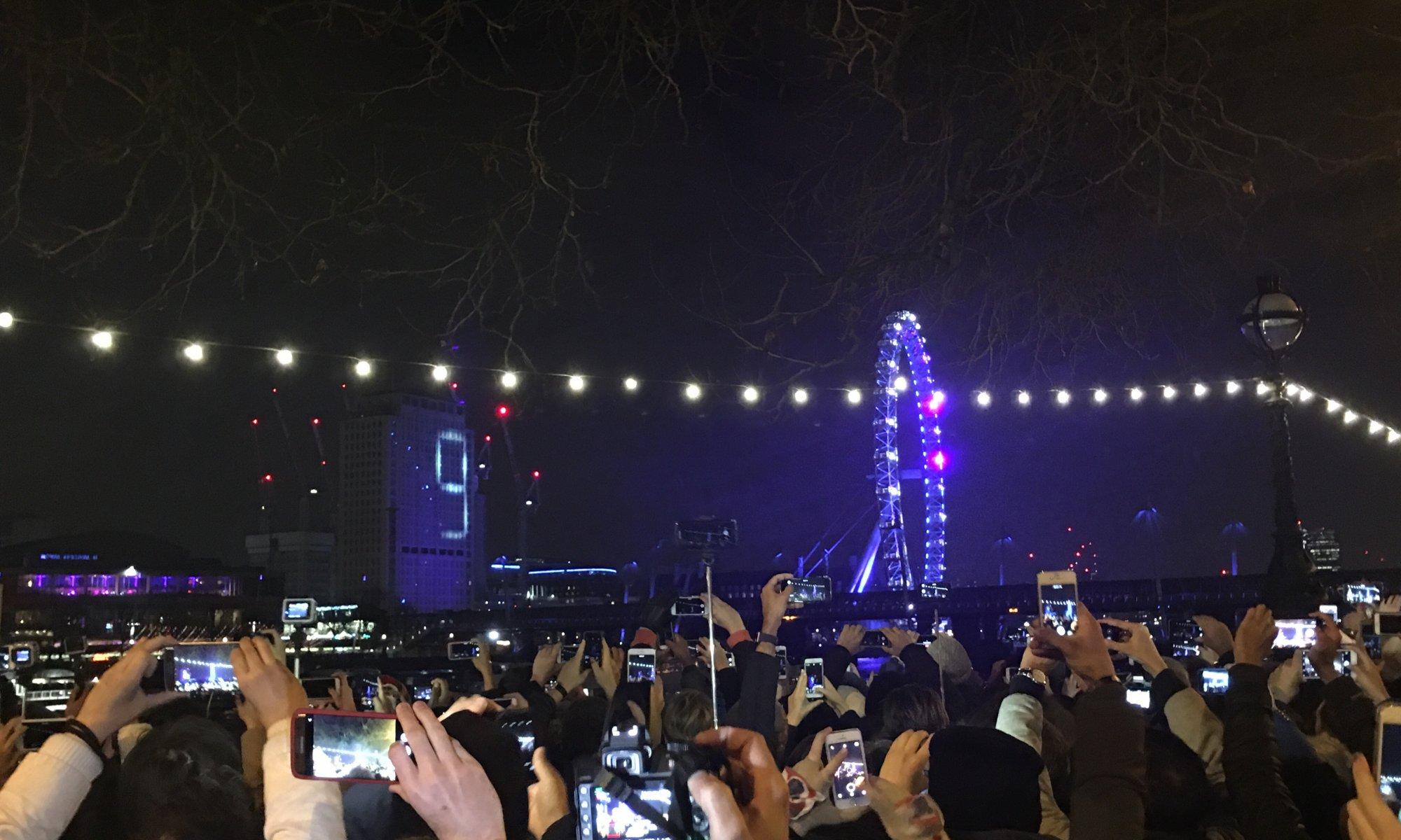 NYE fireworks, London, England, United Kingdom