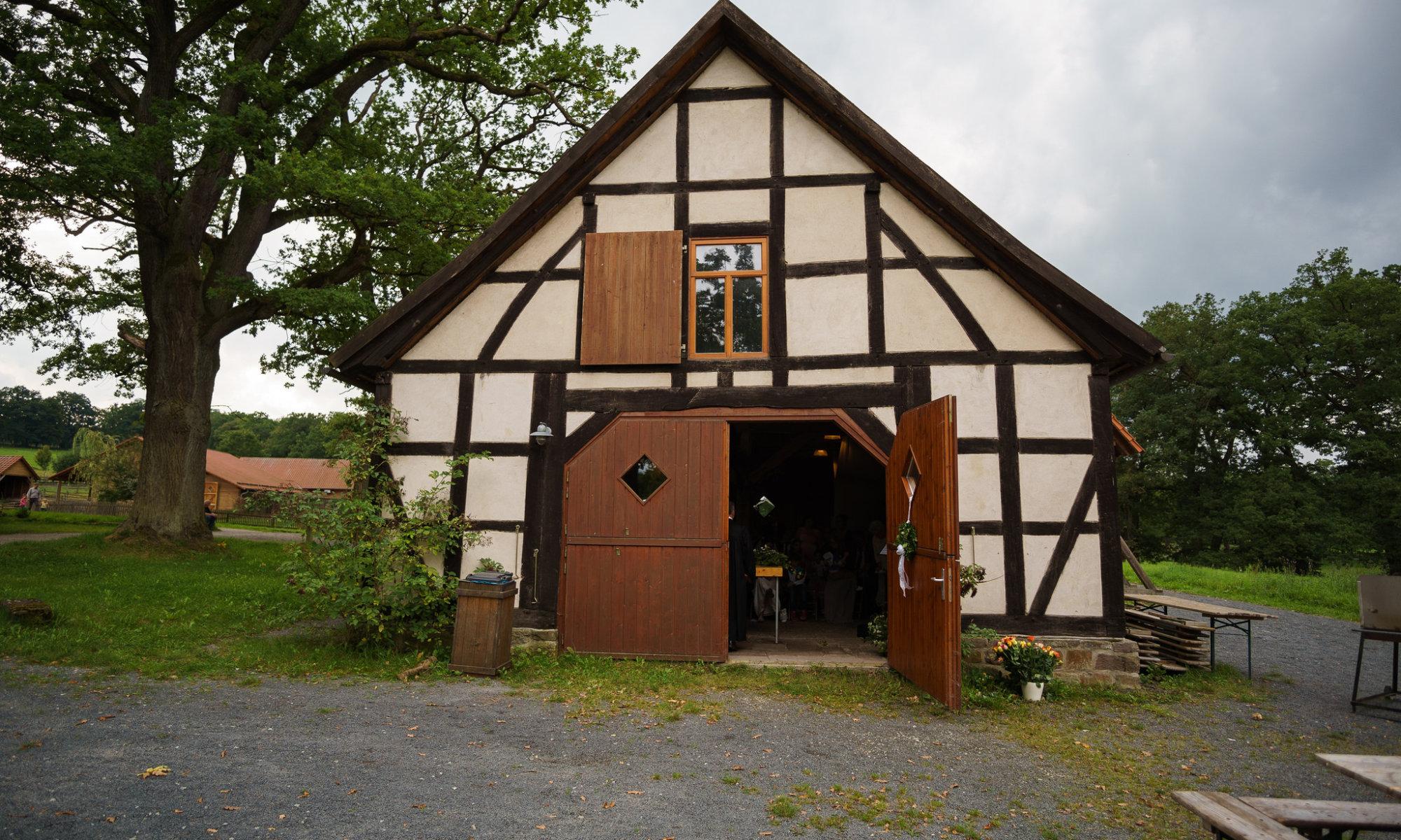 Kirchenscheune, Tierpark Sababurg, Hofgeismar