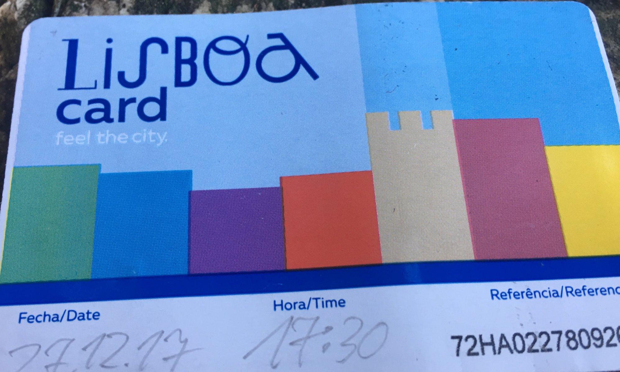 Lisboa Card, Lisboa