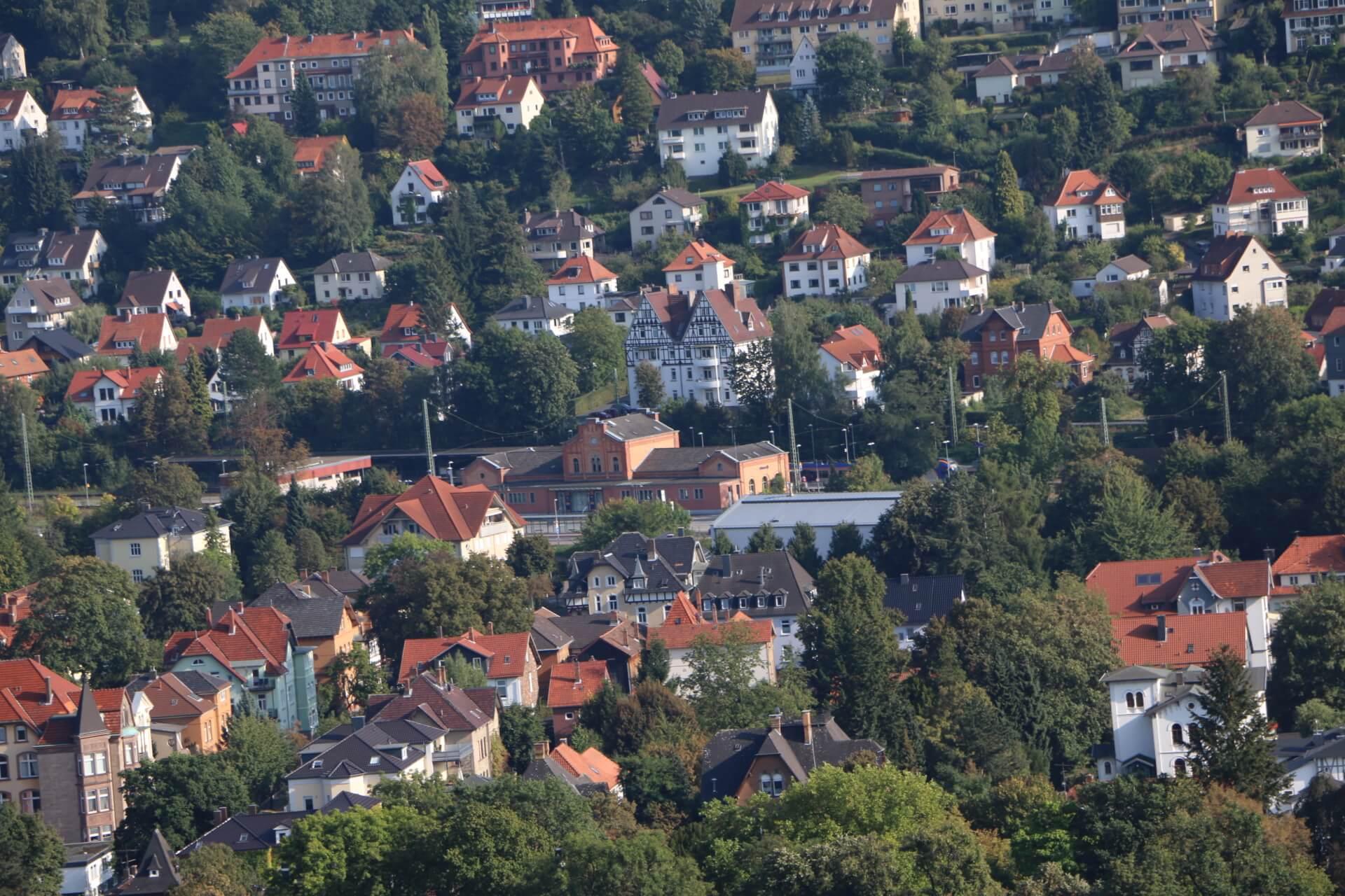 View from Tillyschanze, Hann. Münden