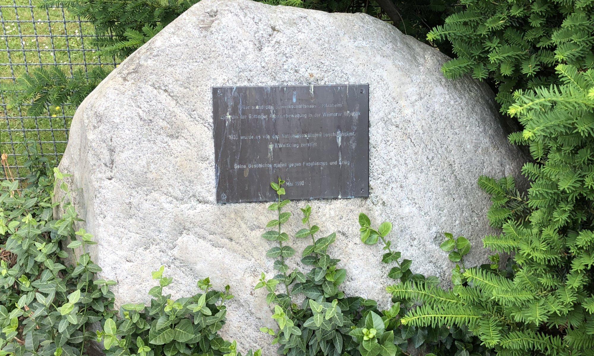 Volksheim-Gedenkstein, Göttingen