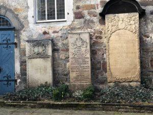 Grave stone of Johann Andreas Eisenbarth, Hann. Münden