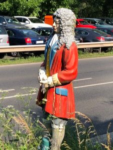 Statue of Johann Andreas Eisenbarth at a road to the city, Hann. Münden