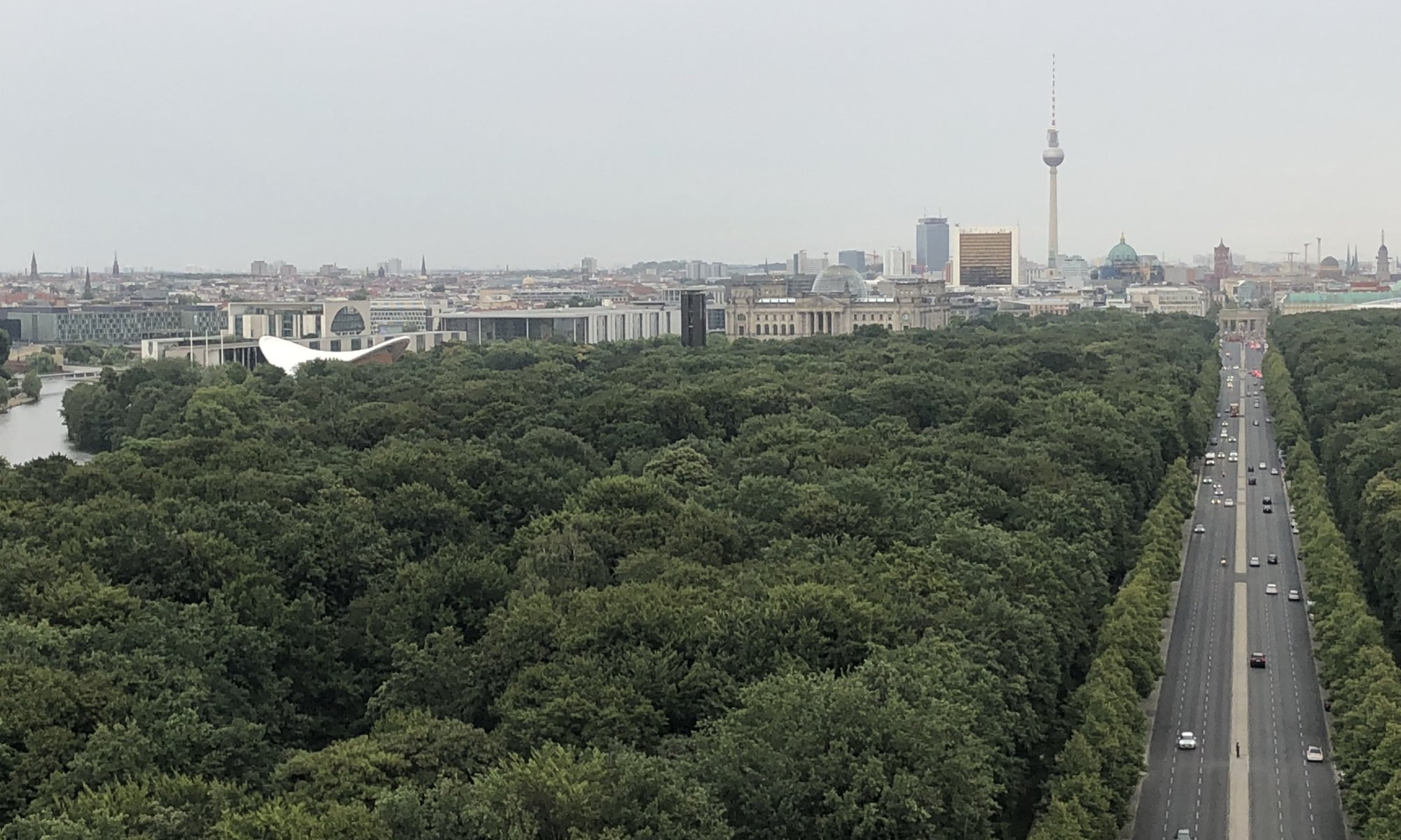 View from the Siegessäule, Berlin