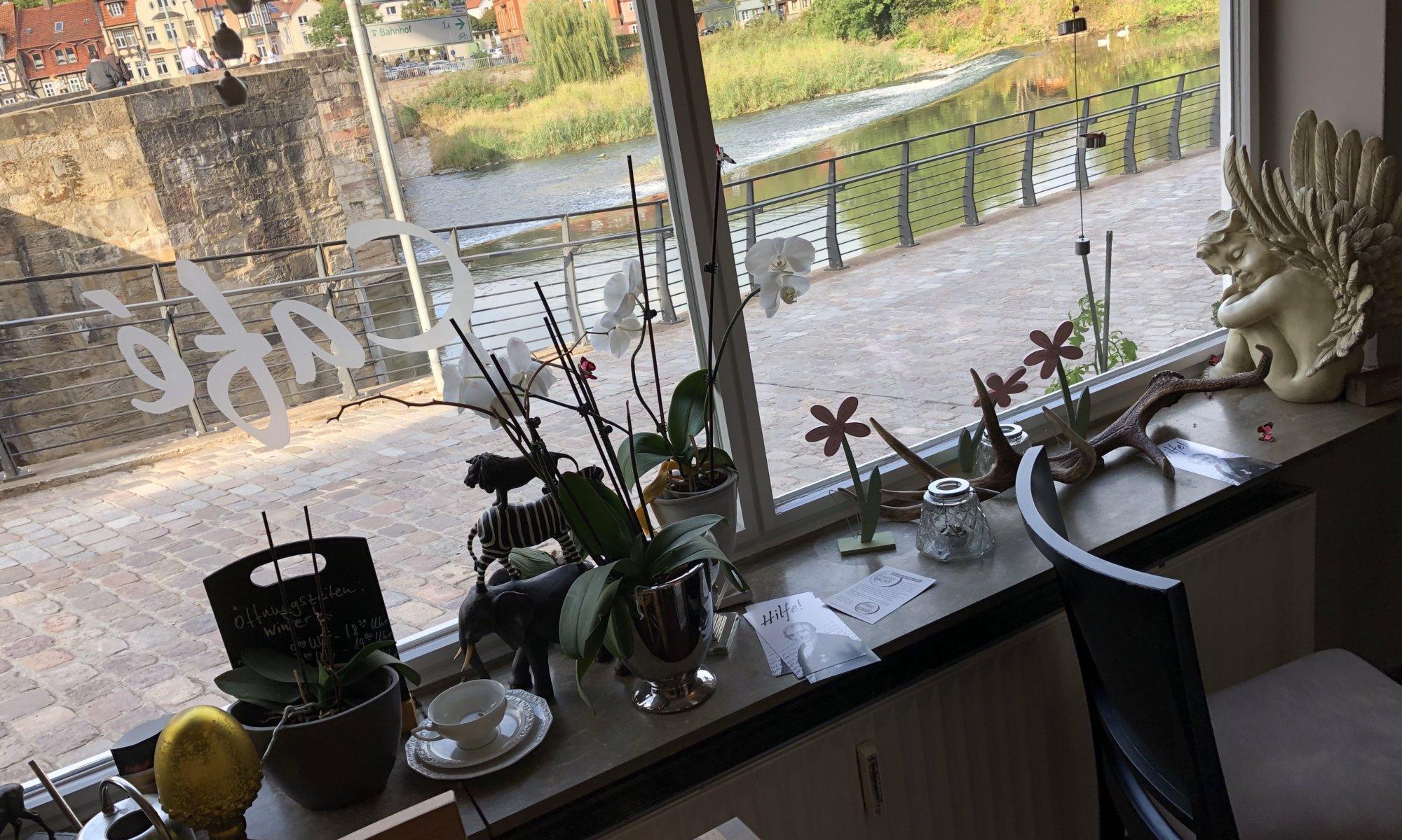 Café an der Werrabrücke, Hann. Münden