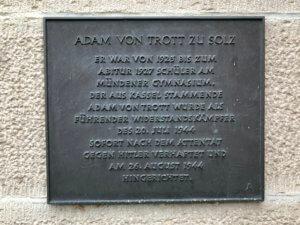 Adam-von-Trott-zu-Solz-Gedenktafel, Hann. Münden