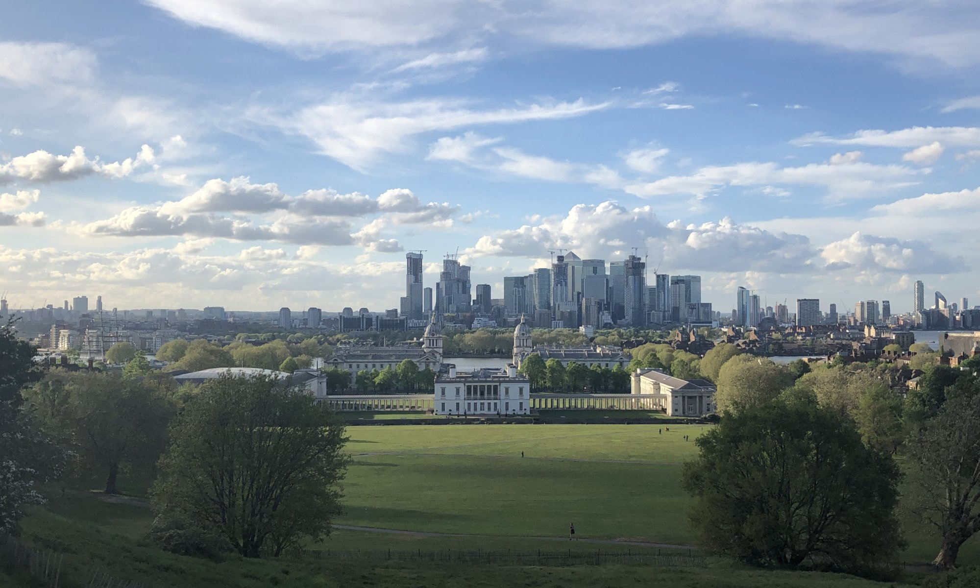 View from Royal Observatory, Greenwich, London
