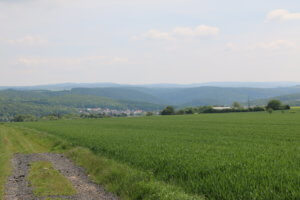 Fuldatal from the Breiter Stein hill