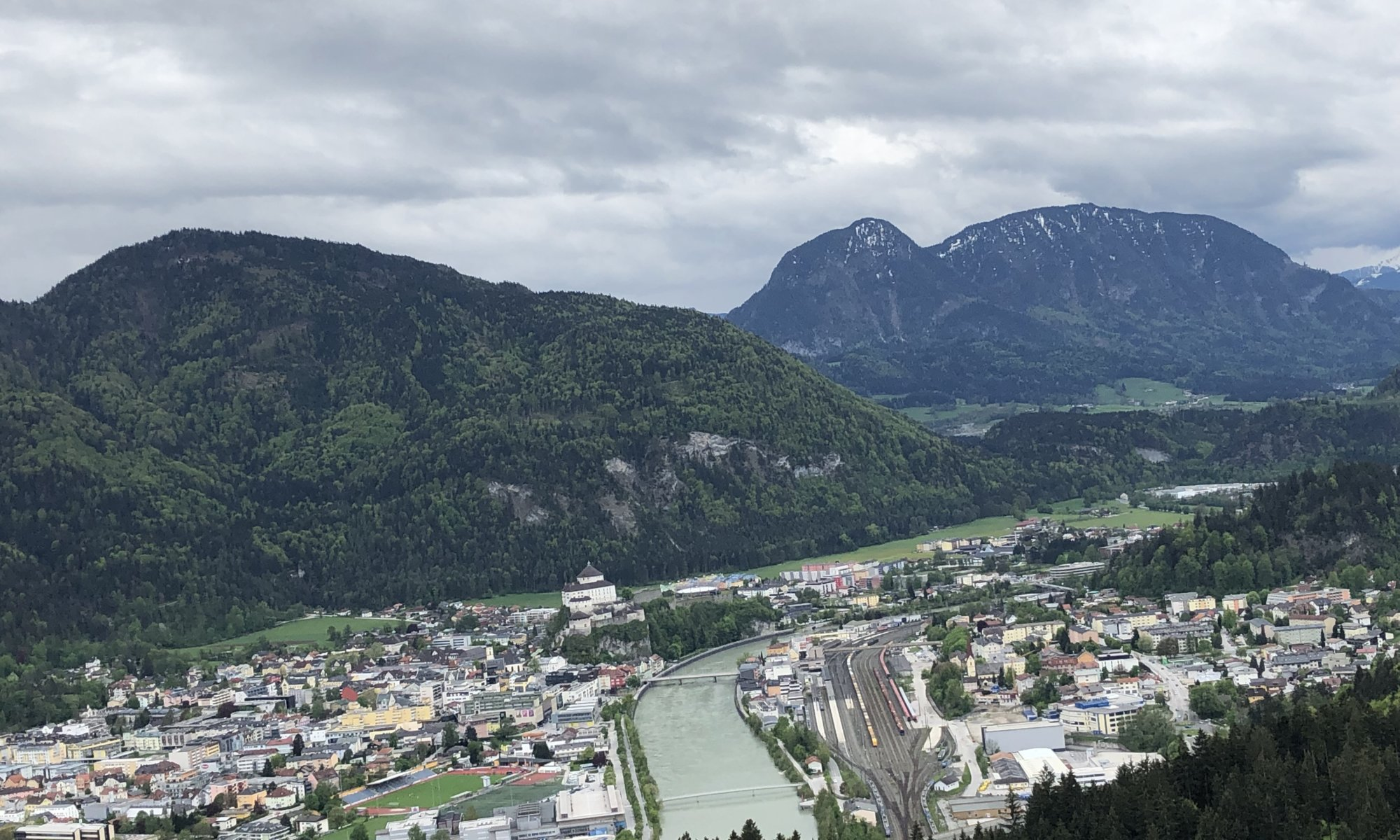Kufstein, seen from Thierberg, Austria