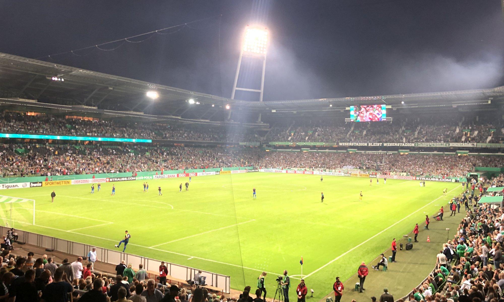 Atlas Delmenhorst vs. Werder Bremen, Weserstadion, Bremen