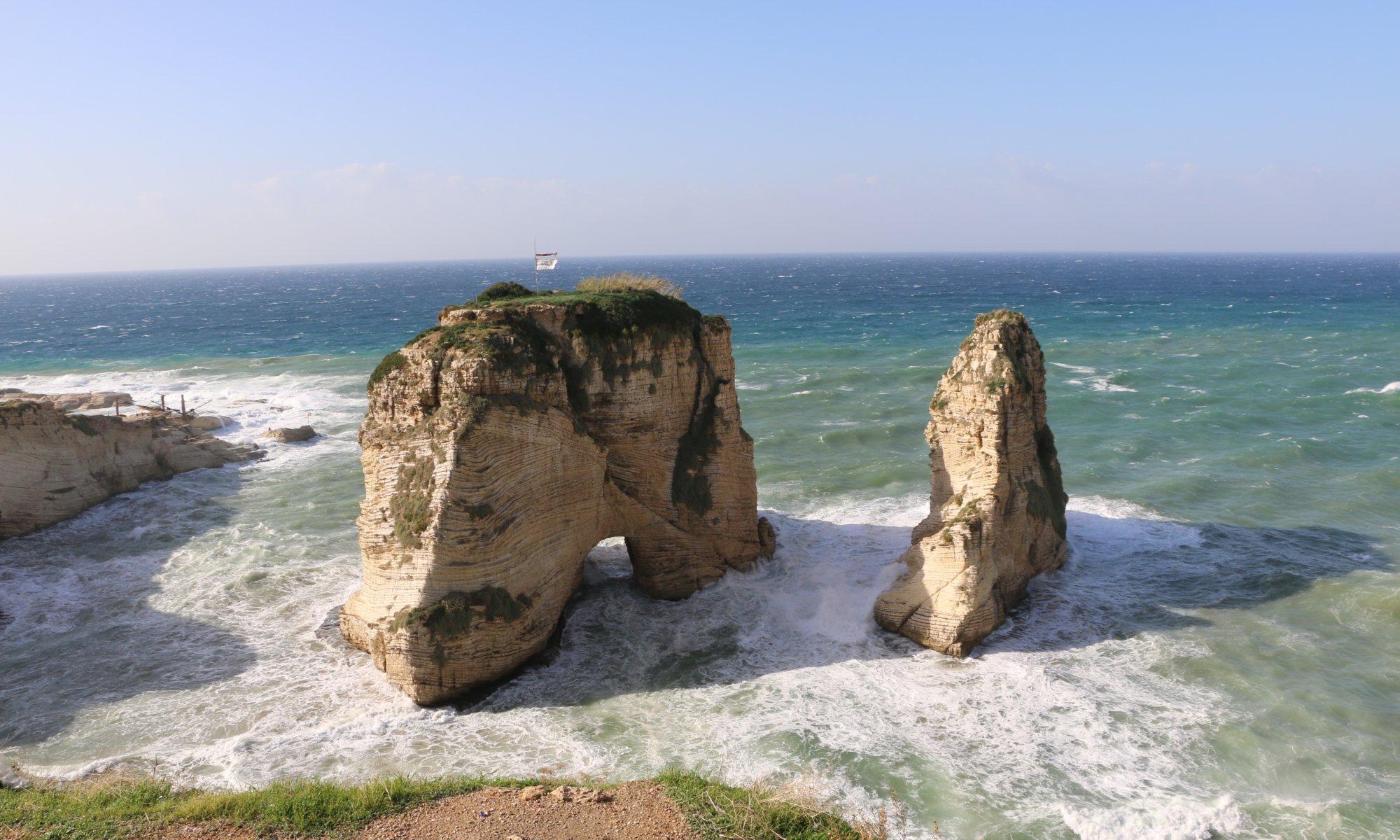Pidgeons' rocks, Raouché, بيروت