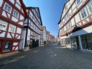 History city center, Melsungen