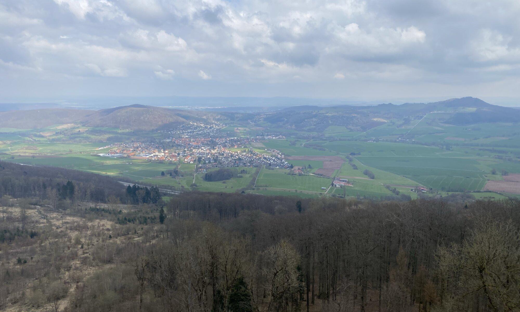 View from Bärenbergturm, Zierenberg