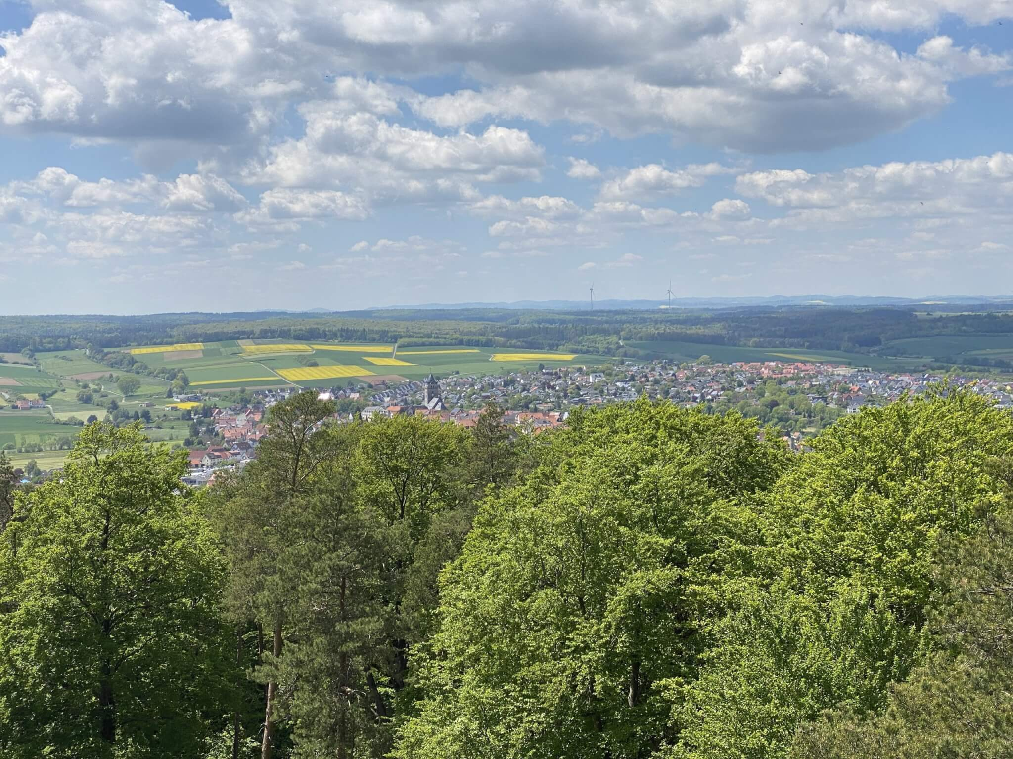 View from Ofenberg tower, Wolfhagen